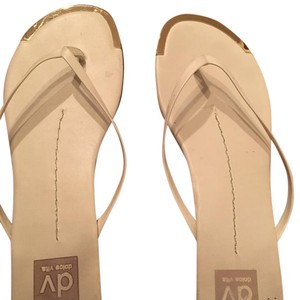 Dolce Vita White & Gold Sandals