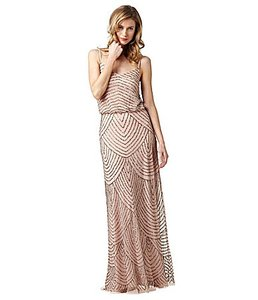 Adrianna Papell Taupe/ Pink Beaded Gown - 091866700 Feminine Bridesmaid/Mob Dress Size 2 (XS)