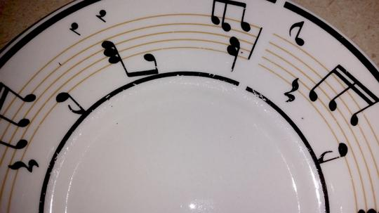 Lynns Stoneware 4-piece Maestro Music Cup And Saucer