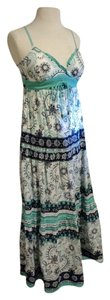 Maxi Dress by Energie Aqua Blue Patterned Maxi
