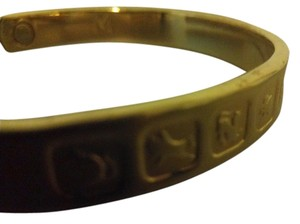 24K electroplated gold bracelet with zodiac signs