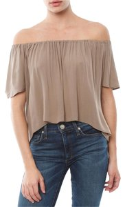 Blue Life Boho Summer Datenight Top Taupe