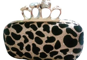 Evening Prom Party Black Gold Clutch