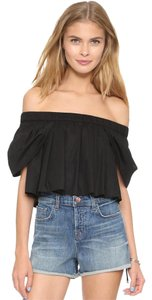 MLM Offtheshoulder Croptop Willow Bohoglam Nightout Top Black