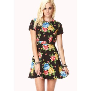 Forever 21 short dress Black/Multi on Tradesy