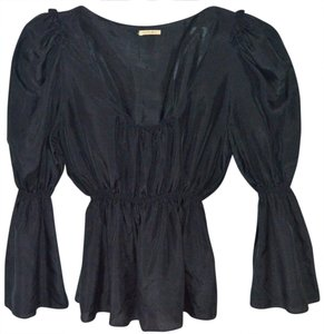 Max Studio Black Silk Top