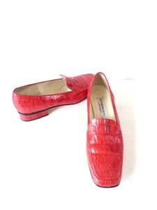 Loafers Moccasins Red Flats