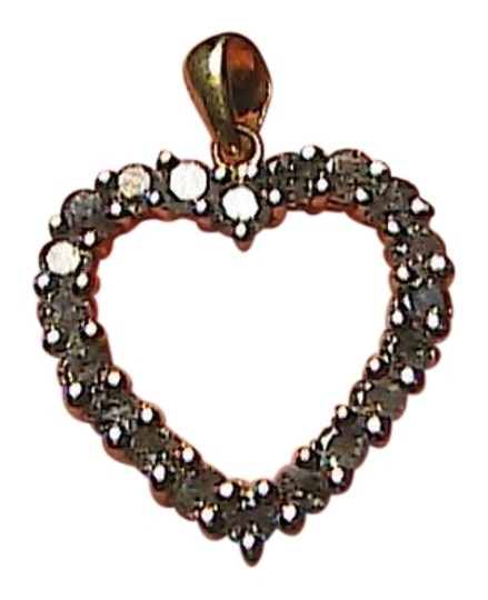Preload https://item4.tradesy.com/images/10k-yellow-gold-diamond-solid-25-cts-heart-pendant-2-1696103-0-0.jpg?width=440&height=440