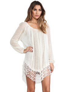 Free People Sheer Boho Bohochic Gypsy Dress