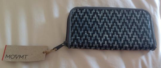 Movmt MOVMT The People's Movement Gray Black Zig-Zag Zippy pocket book Wallet NWT