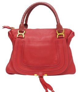 Chloé Large Marcie Tote in Red