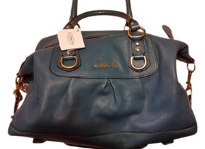 Coach Leather Ashley F15445 Convertible Designer Satchel in Teal