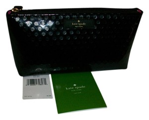 Kate Spade Kate Spade Black Embossed Cosmetic Case WLRU2043