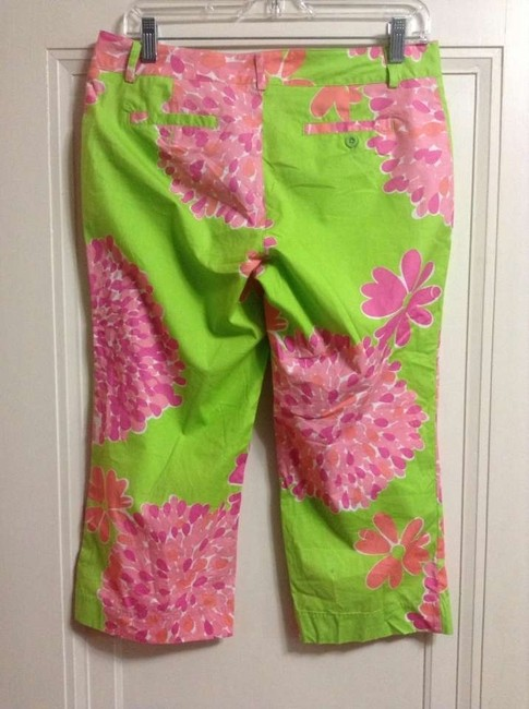 Lilly Pulitzer Floral Garden Party Capris Multi pink and green