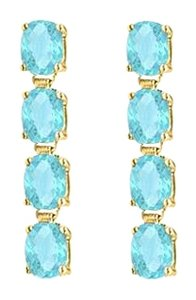 LoveBrightJewelry Totaling Five Carat Oval Cut Aquamarine Drop Earrings in Sterling Silver 18K Yellow Gold Vermeil