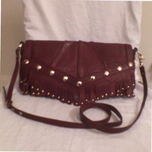 Junior Drake Studded New/nwt Leather Handbag Cross Body Bag