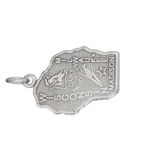 unknown STERLING SILVER ANTIQUED WISCONSIN STATE CHARM