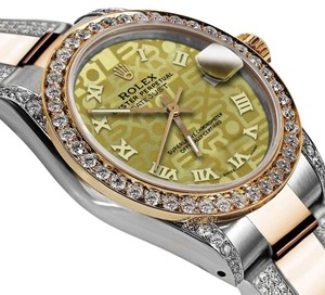 Rolex Women's 31mm Oyster Perpetual Datejust Diamonds Gold Jubilee Roman