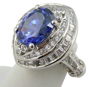 Victoria Wieck Victoria Wieck 5.42ct Absolute and Simulated Tanzanite Sterling Silver Ring - Size 5