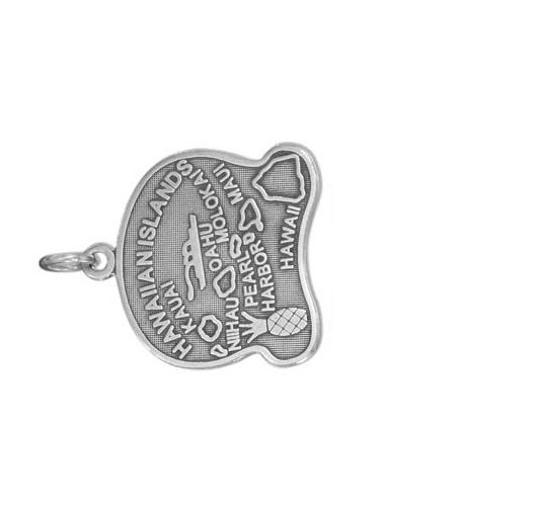 unknown STERLING SILVER ANTIQUED HAWAII STATE CHARM
