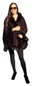 Precila Fur Fox Fur Cashmere Cape