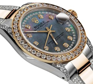 Rolex Women's 31mm Oyster Perpetual Datejust Pearl String Diamond Accent