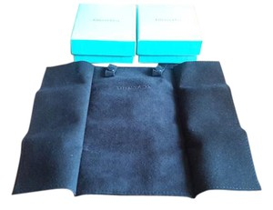 Tiffany & Co. Tiffany & Co. Black Suede Jewlery Roll & Two empty Tiffany & Co . Boxes & one New Tiffany Gift bag