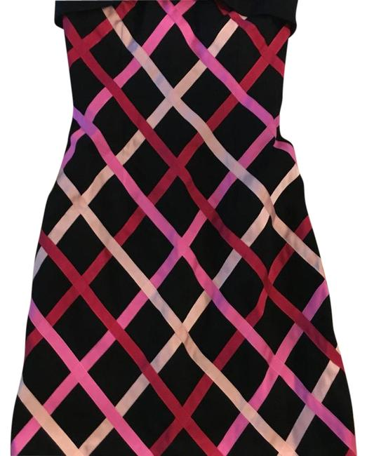 Item - Black Pink Above Knee Cocktail Dress Size 2 (XS)