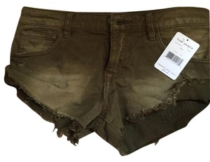 Free People Mini/Short Shorts Army green distressed