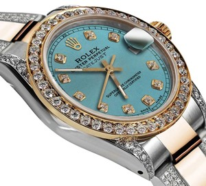 Rolex Women's 31mm Oyster Perpetual Datejust Ice Blue Diamond Dial Accent