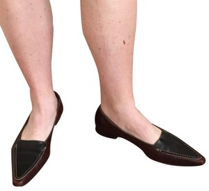 Manolo Blahnik Black & Brown Flats