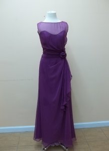 Impression Bridal Mulberry Chiffon 20158 Formal Bridesmaid/Mob Dress Size 14 (L)