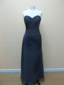 Impression Bridal Slate Chiffon 20160 Formal Bridesmaid/Mob Dress Size 12 (L)