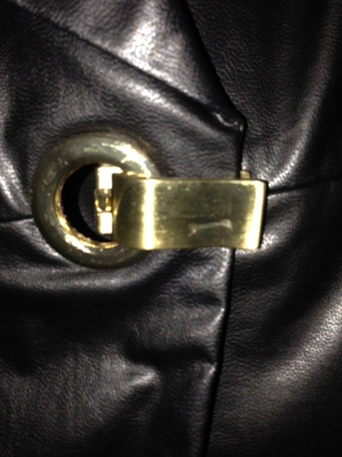 Peter Nygard black faux leather Jacket