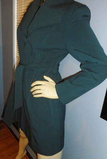 great look fashion styles special discount good Signature by Larry Levine Above Knee Trench Coat ...