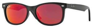 Ray-Ban NEW! Junior New Wayfarer Sunglasses, Matte Black/Red Multilayer, 48mm