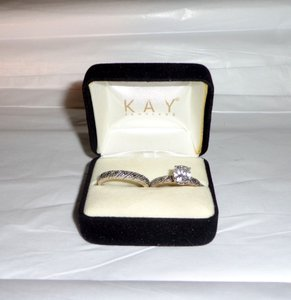 Kay Jewelers Kay Jewelers 925 Silver Engagement Wedding Rings Set Size 7