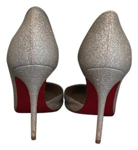 Christian Louboutin Sparkling silver Pumps
