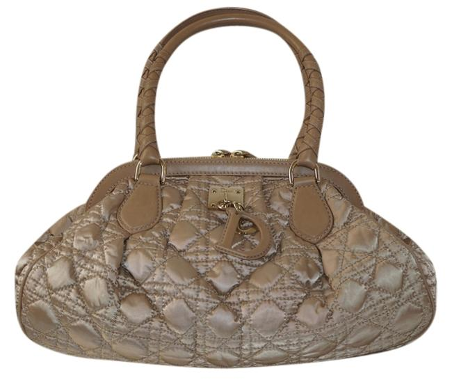Item - Cannage Quilted with Charms Champagne Satin Tote