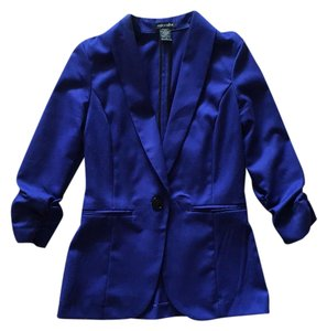 Stoosh Work Bright Cropped Blue Blazer