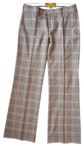 L.A.M.B. Wool Flare Trouser Pants Plaid