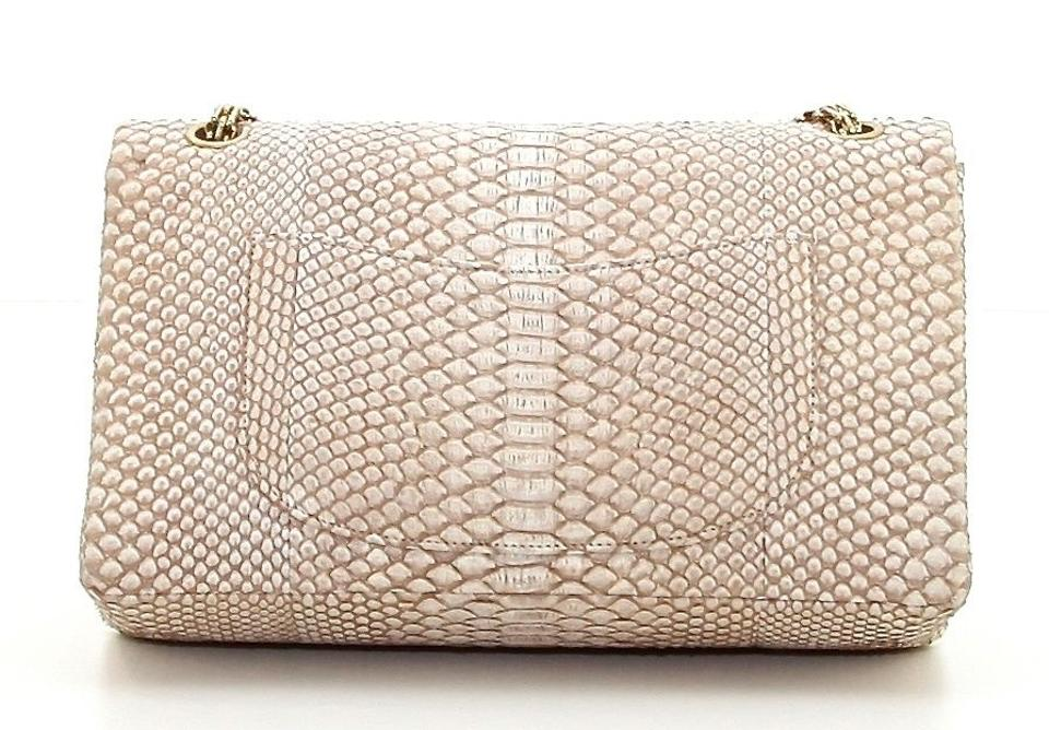 18f2f41ec53f Chanel 2.55 Reissue Jumbo Classic Tan Python Gold Hw Shoulder Bag - Tradesy