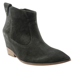Sigerson Morrison Boot Leather Dark Green Suede Boots