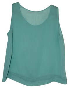 American Apparel Crop Festival Sheer Top Spruce Green