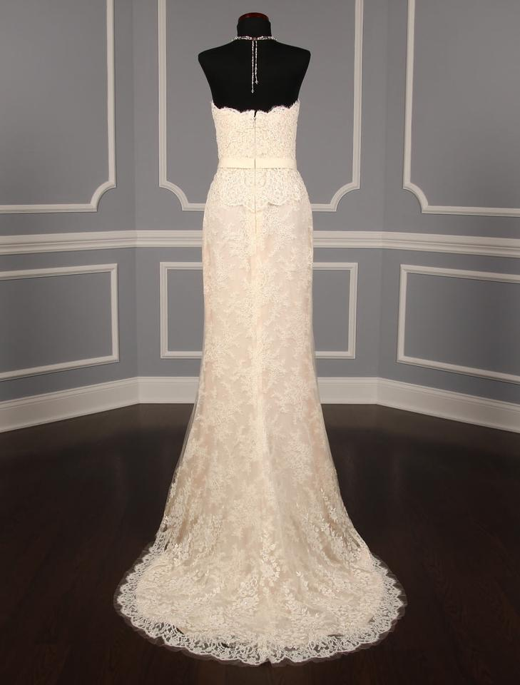f413d18969b2 Reem Acra Cream/Blush Beaded Lace and Tulle It Girl 5113 Formal Wedding  Dress Size. 123456789101112
