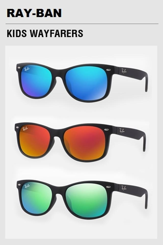 ... australia ray ban new junior new wayfarer sunglasses rj9052s matte black  mirror blue. 1234567 99936 febc2e1540