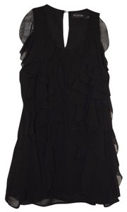 MM Couture Miss Me Ruffle Top Black