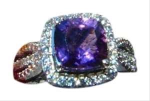 Other cushion cut amythyst ring