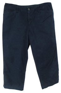 Ralph Lauren Solid Capri/Cropped Denim-Dark Rinse