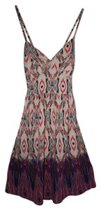 Jessica Simpson short dress Pink/Multi Crisscross Strap Print on Tradesy